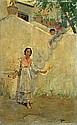 Charles Xavier Harris (American, born 1856) Woolwinder Capri 11 1/2 x 7 1/4in