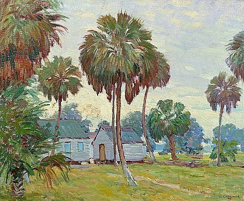 William Chadwick (American, 1879-1962) Florida Scene 20 x 24in