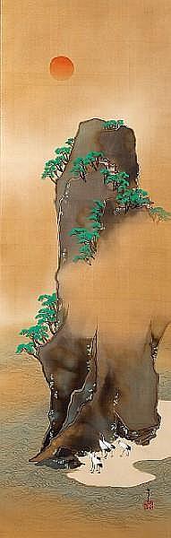 Mt. Horai By Kamisaka Sekka (1866-1942)