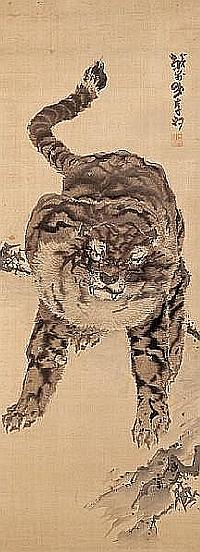 Tiger and dragon By Ganku (1756-1839)