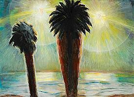 Frederick S. Wight (American, 1902-1986) Water's Edge, 1983 47 3/4 x 66in