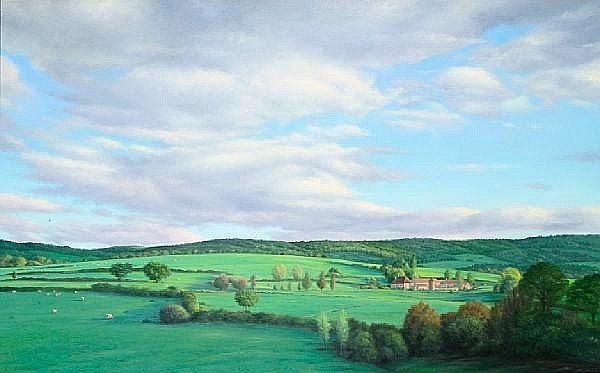 Willard Dixon (American, born 1942) Near Autun, France, 1985 46 x 72in