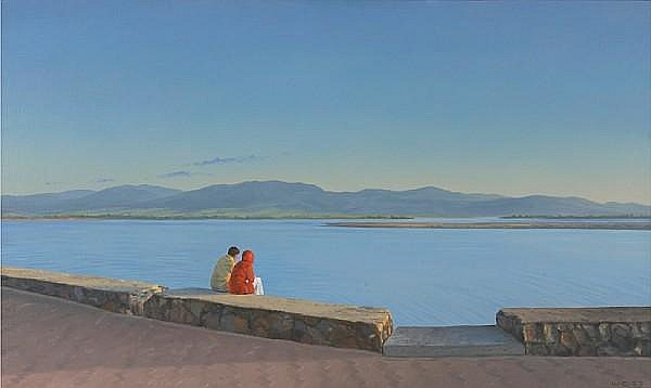 Willard Dixon (American, born 1942) Ensenada, 1983 31 1/2 x 53in
