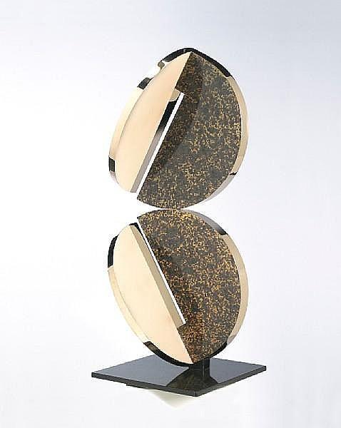 Fletcher Benton (American, born 1931) Double Folded Circle, 1980 49 x 19 x 19in