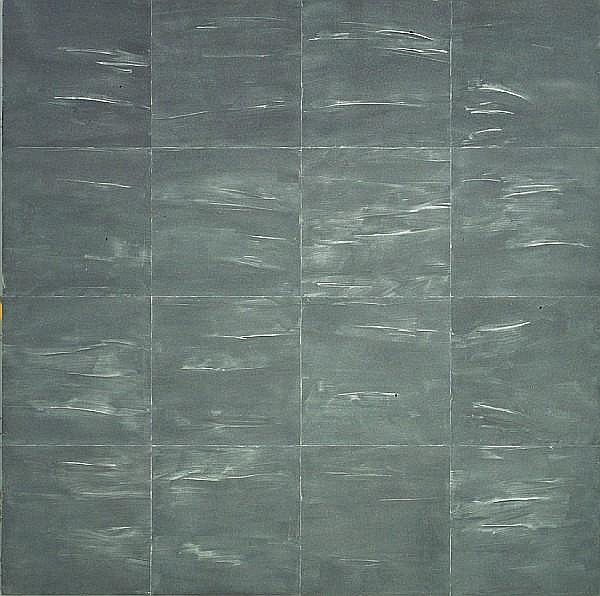 Mary Corse (American, born 1945) Grey Light Grid Series, 1987 84 x 84in