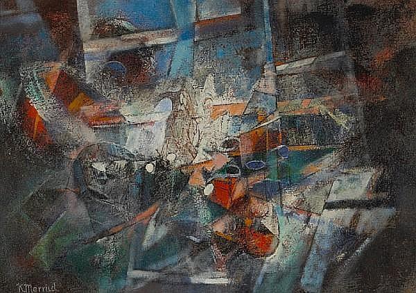 Knud Merrild (American, 1894-1954) Untitled 14 x 20in