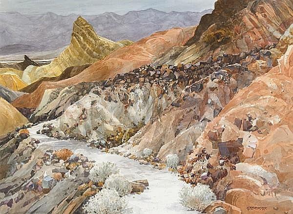 Gerald F. Brommer (American, born 1927) Zabriski Point Death Valley, 2000 22 x 30in