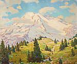 Robert Alexander Graham (1873-1946) Mt. Rainier 25 x 30in overall: 30 x 35in