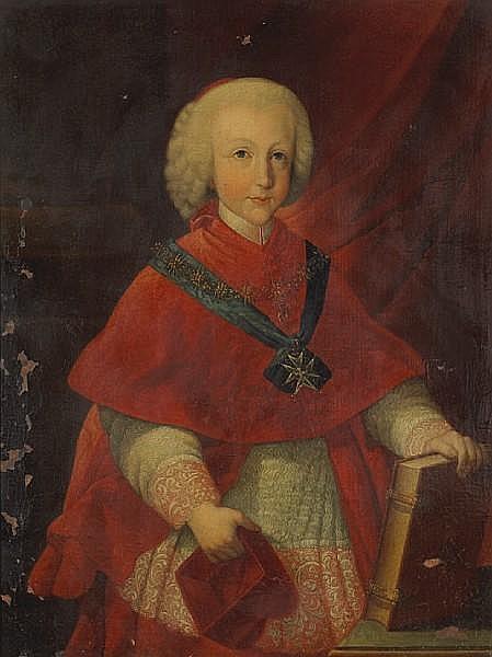 Circle of Pietro Labruzzi (Italian, 1739-1805) A portrait of Cardinal-Infante Ferdinand of Austria 32 3/4 x 24 3/4in (83.2 x 62.8cm)
