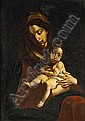 Studio of Alonso Cano (Spanish, 1601-1667) The Madonna and Christ Child 39 1/2 x 28 1/2in (100.4 x 72.4cm), Alonso Cano, Click for value