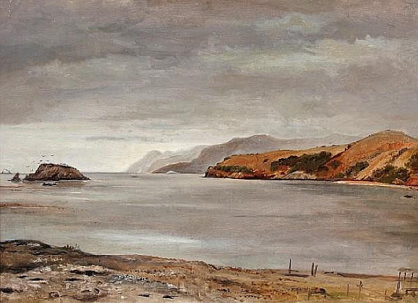 Lockwood De Forest (American, 1850-1932) Santa Catalina Island 13 x 18in