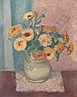 Mildred Emerson Williams (American, born 1892) Still life of a vase of flowers 18 x 15in, Mildred Emerson Williams, Click for value