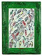 Hunt Slonem (American, born 1951) Finches, 1996 framed dimensions 35 1/2 x 26 1/4in (90.2 x 67.3cm), Hunt Slonem, Click for value