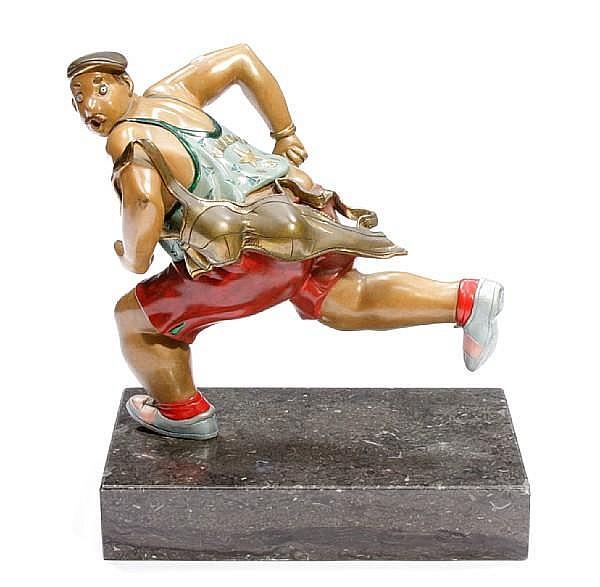 Hiro Yamagata (Japanese, born 1948) The Runner 14 1/2 x 12 1/2 x 8in