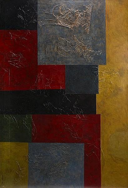 Joseph M. Glasco (American, 1925-1996) Athens, 1962-1963 57 x 83in