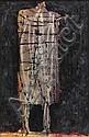 Joseph M. Glasco (American, 1925-1996) Standing Figure, 1961 17 x 11in, Joseph M Glasco, Click for value