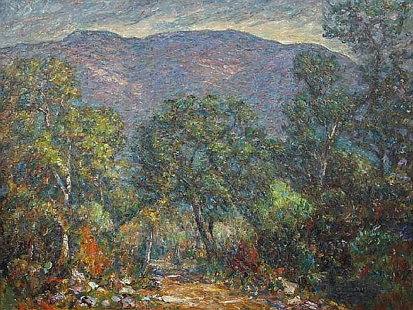 John August Dominique (American, 1893-1994) Mountains Near Matilija Dam, 1960 28 x 36in