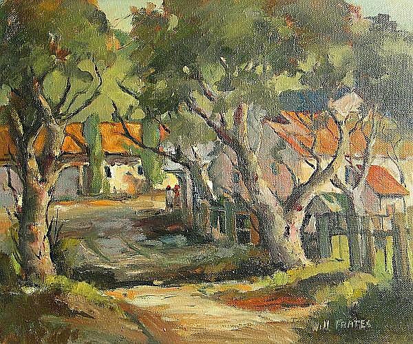William E. Frates (American, 1896-1969) Mission San Jose 20 x 24in