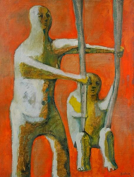 Morris Broderson (American, born 1928) The Swing 48 x 36in