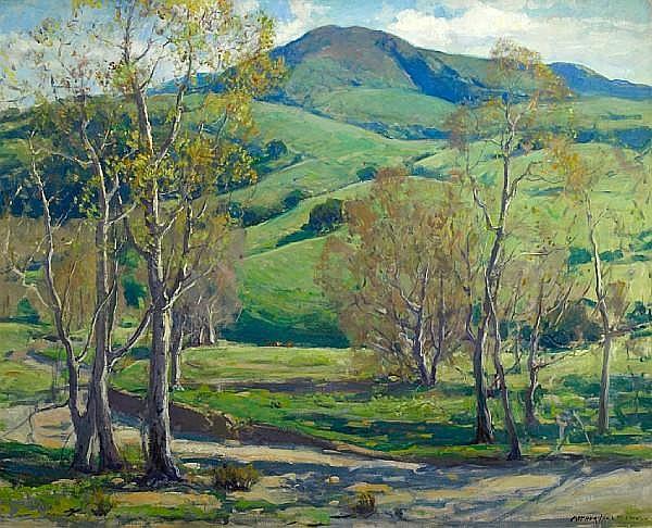 Arthur Hill Gilbert (American, 1894-1970) Capistrano Hills 40 x 50in