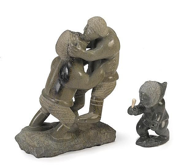 Two Inuit soapstone sculptures