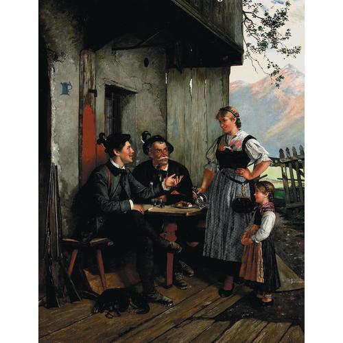 Paul Felgentreff, Einkehr, oil on canvas