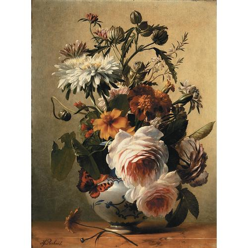 Hendrik Reekers, Floral Still Life, oil on panel