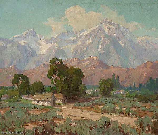 Marion Kavanaugh Wachtel (1876-1954) Whitney from Lone Pine 24 1/4 x 28 1/4in
