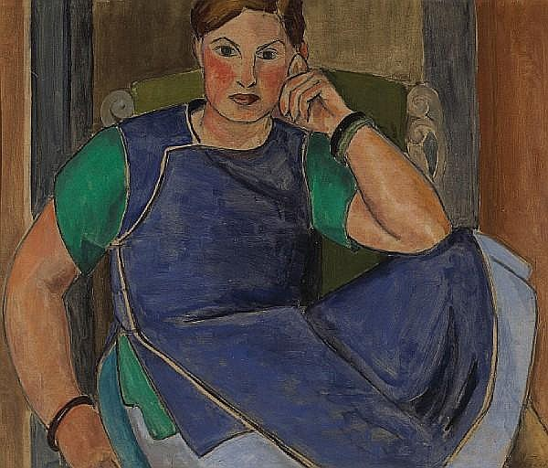 Ruth Cravath (American, 1902-1986) Portrait of Dorr Bothwell, 1923 25 3/4 x 29 3/4in