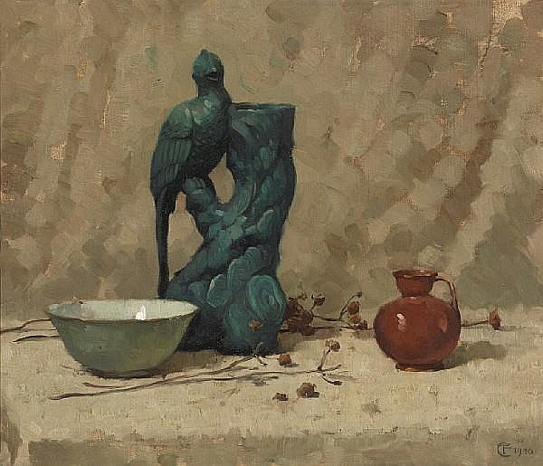 Frank Tolles Chamberlin (American, 1873-1961) Still Life, 1940 17 1/2 x 20 1/2in