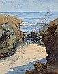 William A. Griffith (American, 1866-1940) Along the Rocky Shore, 1923 20 x 16in, William Alexander Griffith, Click for value