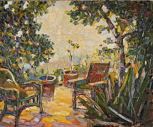 Selden Connor Gile (American, 1877-1947) The Garden, 1919 18 x 22in