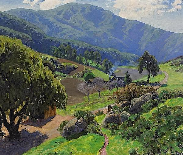 William Alexander Griffith (1866-1940) In Laguna Canyon, 1928 26 x 30in
