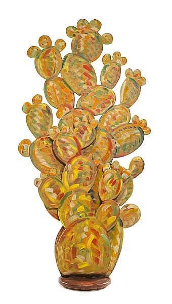 Frank Romero (American, born 1941) Cactus, c. 1990 88 x 44 x 18in