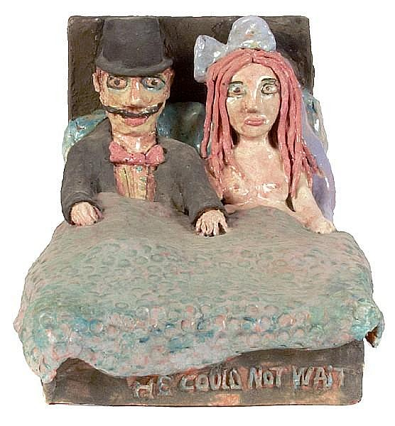 Beatrice Wood (American, 1893-1998) He Could Not Wait