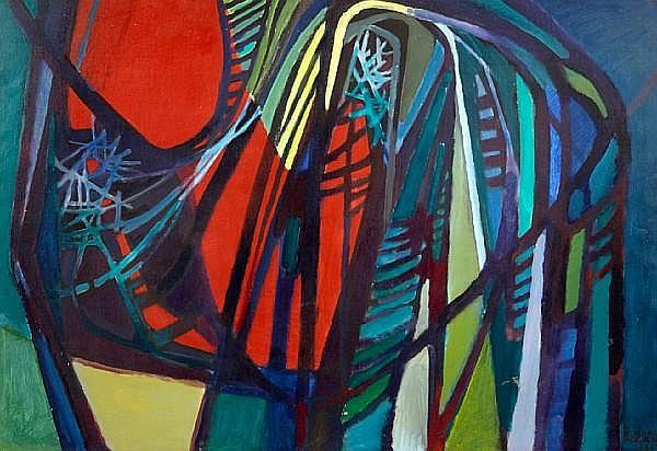 Roberto Burle Marx (Brazilian, 1909-1994) Untitled, 1967 35 x 51in (89 x 129.5cm)