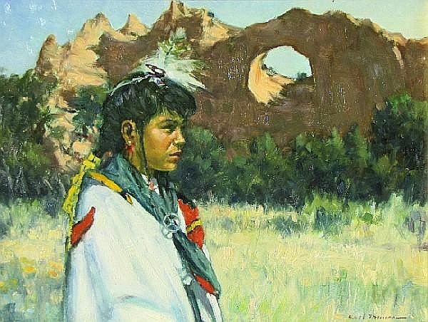 Karl Thomas (American, born 1948) Girl from Window Rock 9 x 12in
