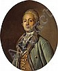 Attributed to Antoine Vestier (French, 1740-1824) A portrait of a gentleman, half-length oval 29 1/4 x 24 1/4in, Antoine Vestier, Click for value