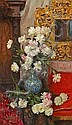Albert Aublet (French, 1851-1938) A still life of peonies in a vase 78 3/4 x 46 1/4in (200 x 117.5cm), Albert Aublet, Click for value