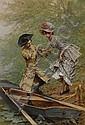 Frederik Hendrik Kaemmerer (Dutch, 1839-1902) The boating party 31 1/2 x 22in (80 x 56cm), Frederik Hendrik Kaemmerer, Click for value