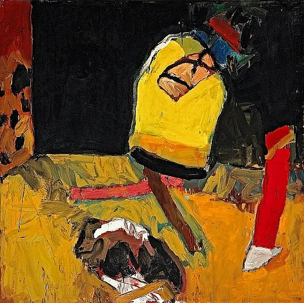 Joan Brown (American, 1938-1991) Things and Mess in Classroom, 1959 60 x 60in