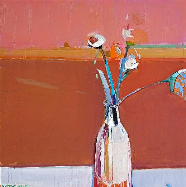 Raimonds Staprans (Latvian/American, born 1926) Still Life with Flowers, 1980-82 40 x 40in