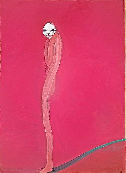 Nathan Oliveira (American, born 1928) Figure with White Face, Summer of '73, 1973 92 x 66in