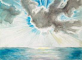 Frederick S. Wight (American, 1902-1986) Cloud, 1982 48 x 66in