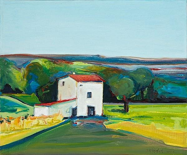 Gregory Kondos (American, born 1923) South of France, 2003 18 x 21 1/2in