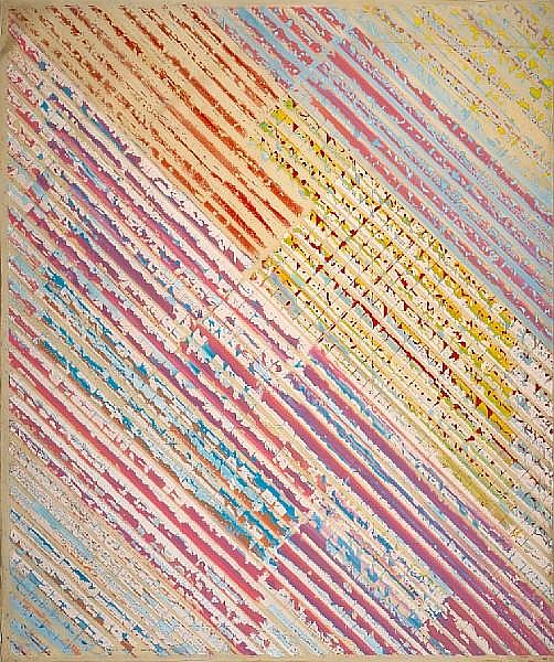 Ed Moses (American, born 1926) Untitled (from Track Series), 1974 83 x 70 1/2in