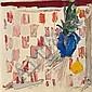 Manoucher Yektai (Iran, born 1922) Untitled (Blue vase), 1964 32 x 32in (81.3 x 81.3cm), Manoucher Yektai, Click for value