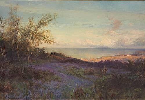 William Gilbert Foster (British, 1855-1906) The azure mead 40 x 58 1/4in (101.5 x 148cm)