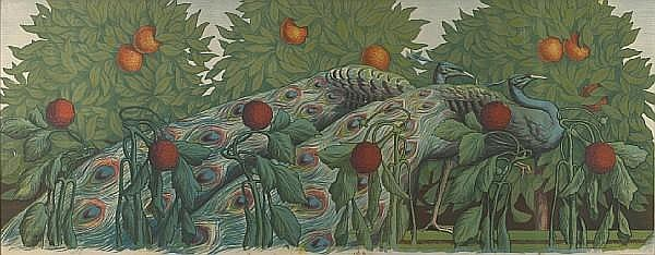 Alfred Müller (French, born 1882); Peacocks;