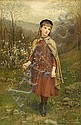 Jennie Augusta Brownscombe (American, 1850-1936) Innocence, 1882 30 x 20in, Jennie Augusta Brownscombe, Click for value